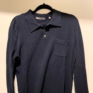 Vince Sweaters - Vince navy crew neck knit cotton sweater